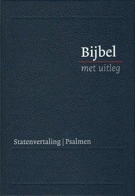 Bijbel met uitleg, midden formaat, 17 x 24 cm, harde band, blauw