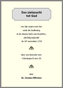 Een zielszucht tot God | Jesaias Hillenius