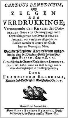 Carduus Benedictus ofte Zeegen der Verdrukkinge