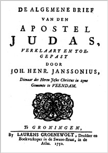 Johannes Henricus Janssonius | De Algemeene Brief van Judas + Het heuchklyk gezicht van den Profeet Zacharias