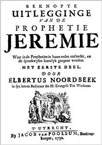 Elbertus Noordbeek | De Propheet Jeremias