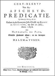 Afscheyd-predicatie Rumpt